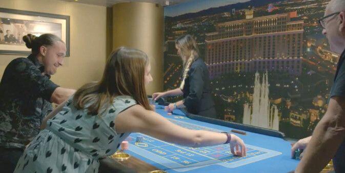 Casino aan boord op de mini cruise naar Newcastle