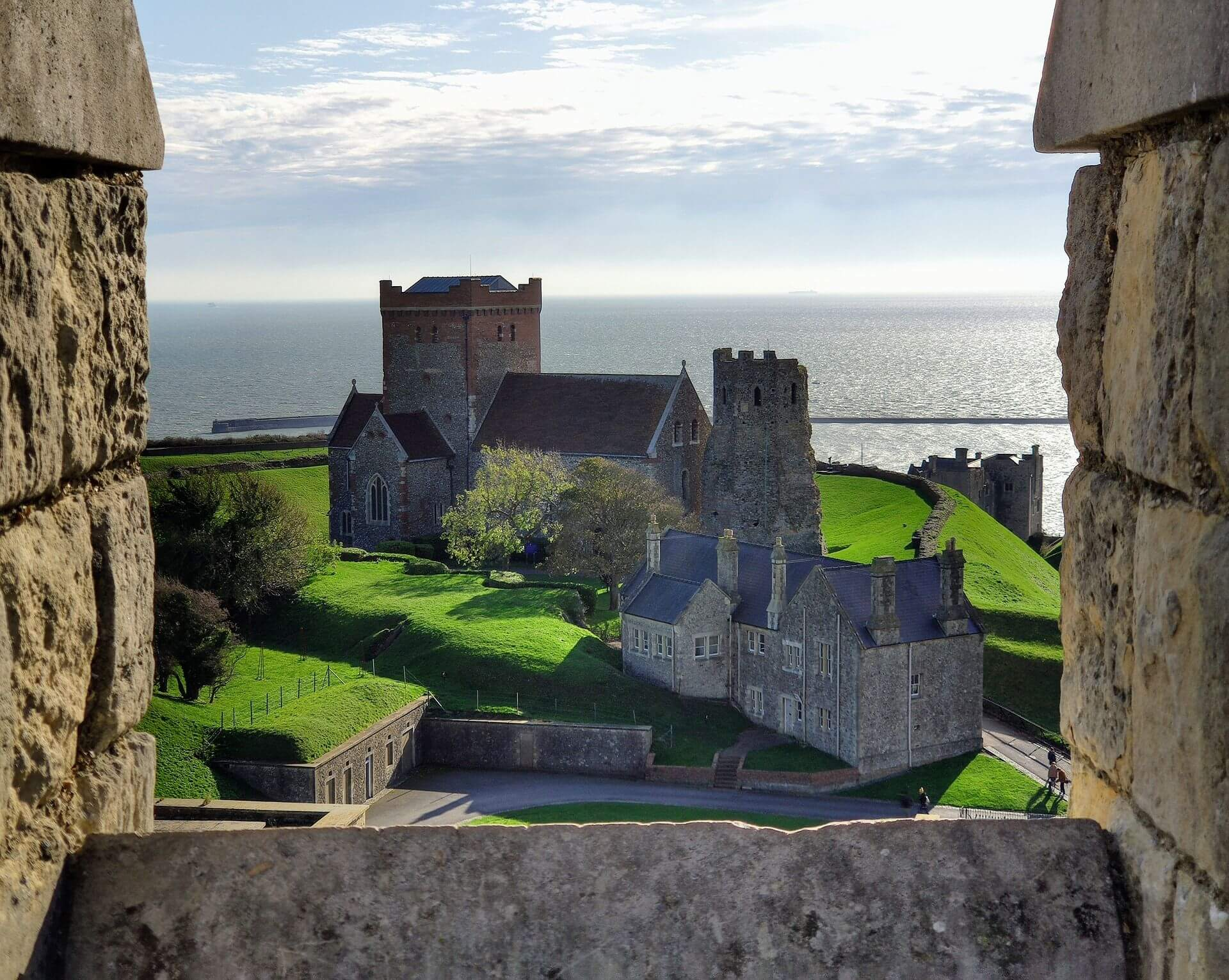 Skyline uitzicht dover kasteel