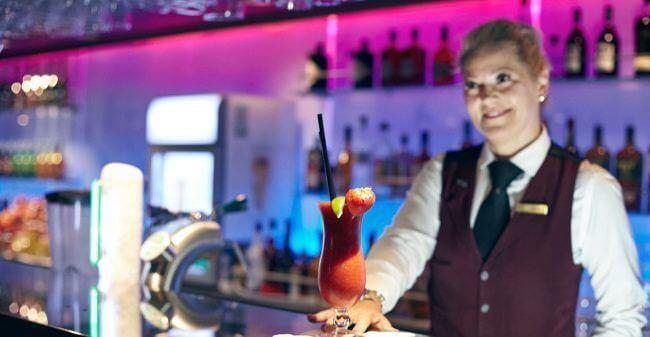 dfds cocktail bar op de minicruise naar newcastle