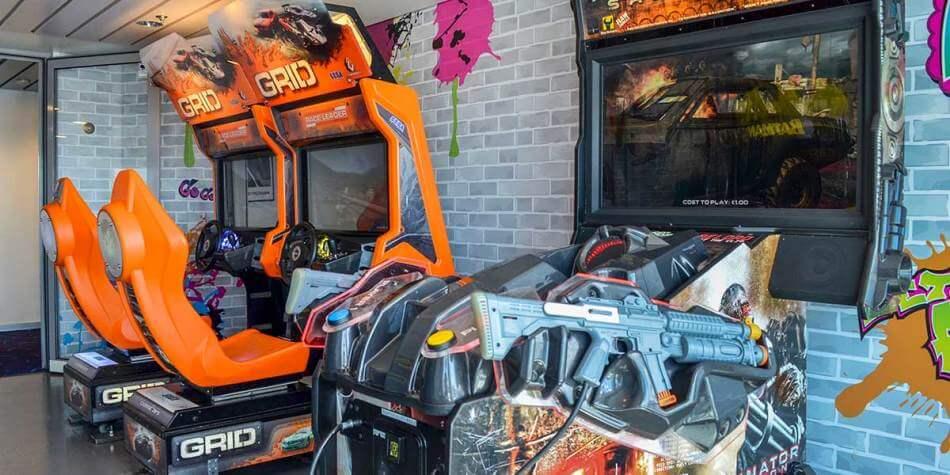 games in de arcade hal op ferry